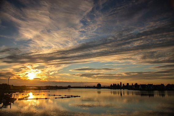 Monnickendam in twilight van Eddie Smit
