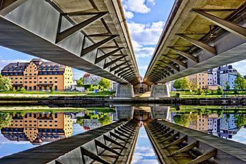 Le pont de fer de Ratisbonne vu d'en bas sur Roith Fotografie