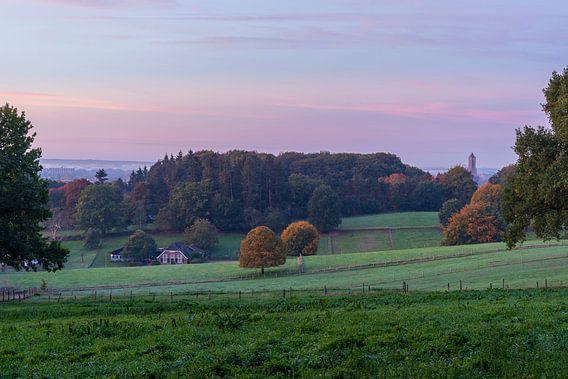 Arnhemse Park Klarenbeek heuvelachtig landschap in de Gelderse hoofdstad van Dave Zuuring op canvas, behang en meer