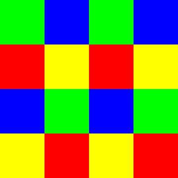 4x4 in 16 | ID=04 | V=11 | RBGY | P #01 van Gerhard Haberern