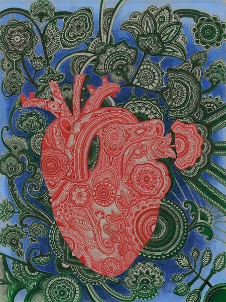 Phantasievolles menschliches Herz von Drawing made by Lin