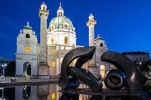 Karlskirche Wien van Lisa Stelzel