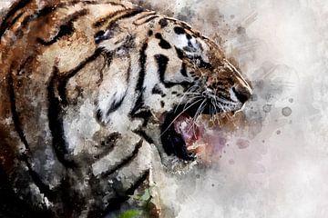 Hungriger Tiger von Monica Zimmermans