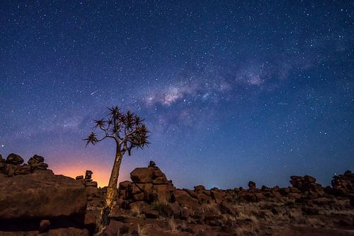 Sterrenhemel in Namibie van