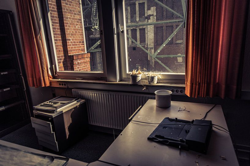 verlaten kantoor van Franziska Pfeiffer