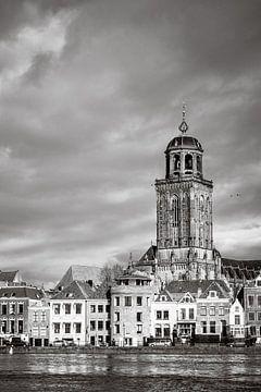 Stadsgezicht Deventer (1) van Rob van der Pijll