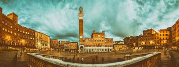 Siena - Piazza del Campo - Vintage  van Teun Ruijters