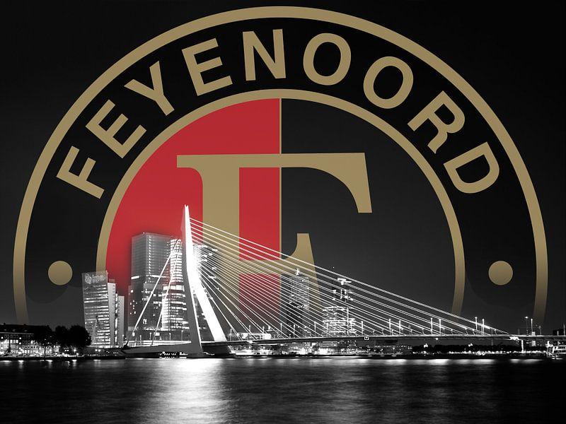 Feyenoord logo en de Erasmusbrug