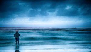Nordsee Angler in Dänemark van Dirk Bartschat