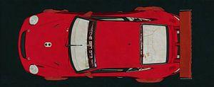 Porsche GT3 RS Cup 2008 bovenaanzicht