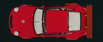 Porsche GT3 RS Cup 2008 - Draufsicht von Jan Keteleer