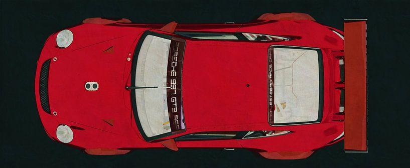 Porsche GT3 RS Cup 2008 vue de dessus sur Jan Keteleer