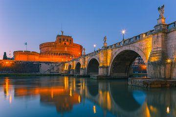 Sonnenaufgang San Angelo Brücke und Schloss Sant Angelo