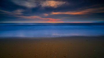 Sonnenuntergang am Nordseestrand bei Petten von Jenco van Zalk
