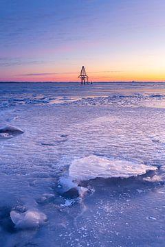 Beulaker Toren in het ijs