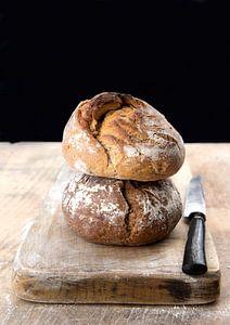 brood aan de muur van