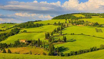 Monticchiello, Val d'Orcia, Toskana, Italien von Henk Meijer Photography