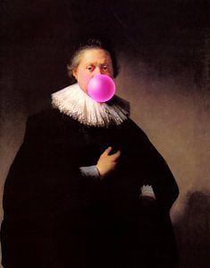 Rembrandt Portret van een Man met Bubble Gum