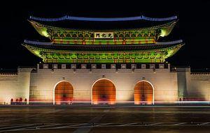 """""""Toegangspoort Gyeongbokgung paleizencomplex"""" in Seoel (2)"""