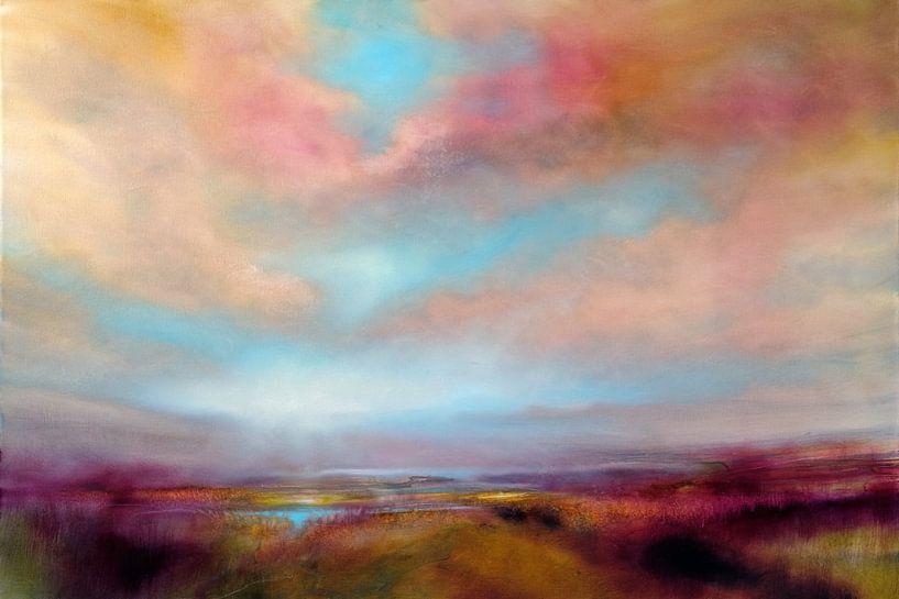 Lande avec des nuages dorés sur Annette Schmucker