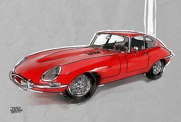 Jaguar E-Type van Pieter Hogenbirk