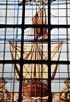 Glasmalerei-Schiff La Rochelle Kathedrale Saint Louis von Maurits Bredius