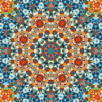 Triangle Art Mandala van Marion Tenbergen