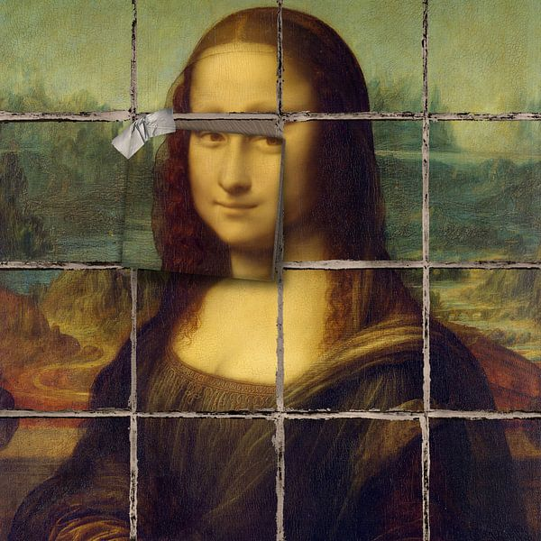Mona Lisa - The Bad Tiling Edition sur Marja van den Hurk