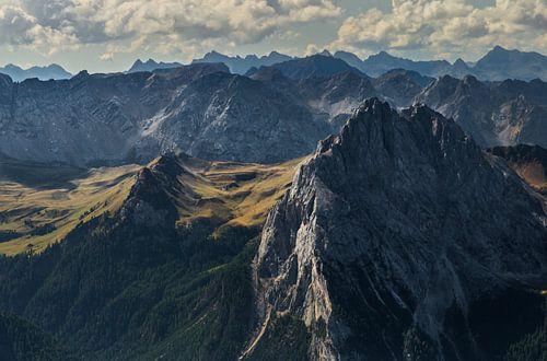 Dolomites at Pordoi pass sur