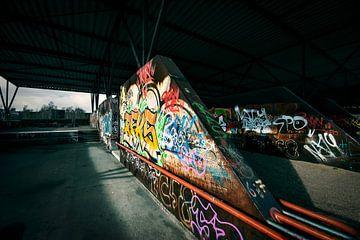 muren met graffiti van Bert-Jan de Wagenaar