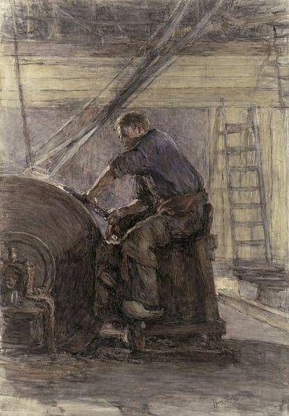 Die Schleifmaschine, Isaac Israels von Meesterlijcke Meesters