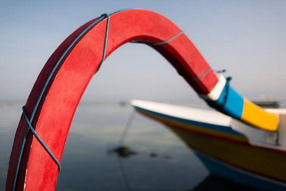 Vissersboot Bali, Indonesië van Martijn Smeets