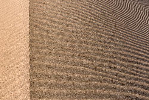 Detail van een zandduin in de Grote Zoutwoestijn | Iran