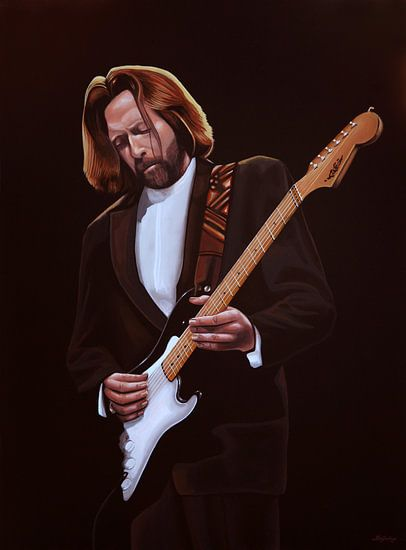 Eric Clapton schilderij van Paul Meijering