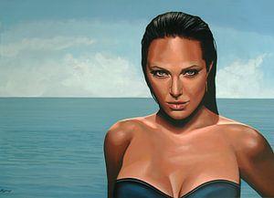 Angelina Jolie schilderij