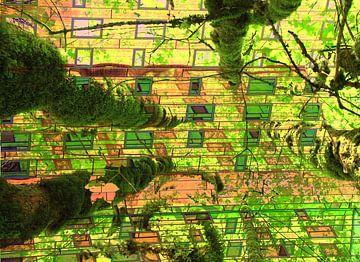 Urbaner Dschungel Collage Kunst von Bobsphotography