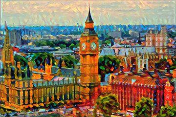 Kleurrijk Schilderij Big Ben Londen
