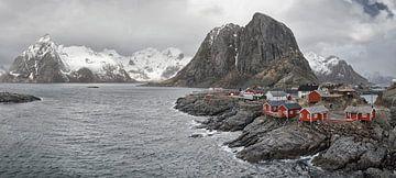 Norwegian houses on the Lofoten sur Marloes van Pareren