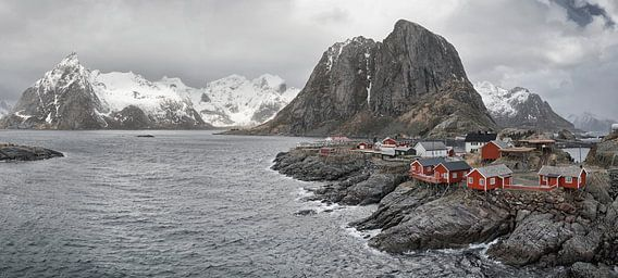 Robruer huisjes Lofoten.  van Marloes van Pareren