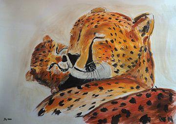 Gepard mit Jungtier von Eye to Eye Xperience By Mris & Fred