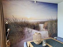 Klantfoto: Duin en strand van Thom Brouwer, als naadloos behang