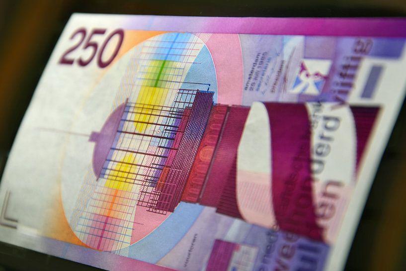 250 gulden biljet - 250 guilder banknote van Wim Goedhart