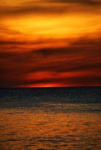 Oranje zonsondergang van