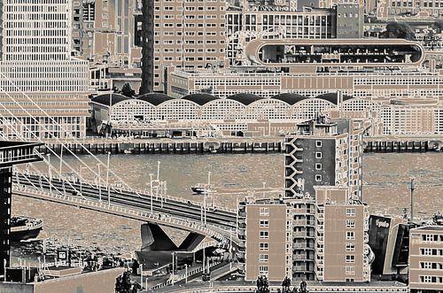 Blokliner Rotterdam - brug, Maas en pier