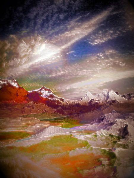 Paysage Montagneux 5 van Angel Estevez
