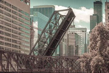 CHICAGO Kinzie Street Railroad Bridge | stedelijke vintage stijl van Melanie Viola