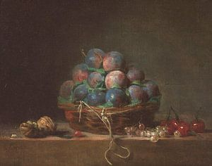Korb mit Pflaumen, Jean-Baptiste Siméon Chardin