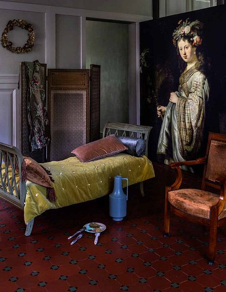 Kundenfoto: Saskia als Flora - Rembrandt van Rijn, auf fototapete