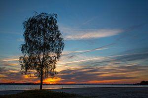 Zonsondergang IJmeer Almere  van