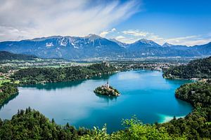 Bled meer in Slovenië van Nick Chesnaye